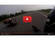 Падение с мотоцикла на GoPro