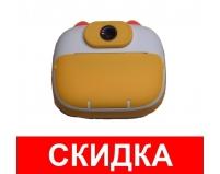 Фотоаппарат мгновенной печати детский GSMIN Котик (Желтый)