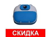 Фотоаппарат мгновенной печати детский GSMIN Котик (Голубой)