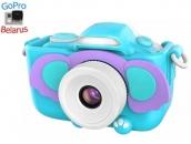 Детский фотоаппарат с селфи камерой GSMIN Слоник