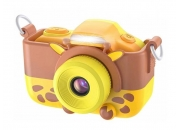Детский фотоаппарат с селфи камерой GSMIN Жирафик