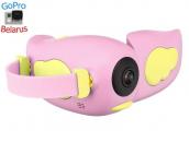 Детская видеокамера GSMIN Kids Camera (Розовая)