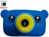 Детский цифровой фотоаппарат Мишка GSMIN (Голубой)