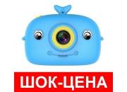 Детский цифровой фотоаппарат GSMIN Кит (Голубой)