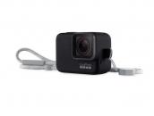 Sleeve + Lanyard GoPro   Черный силиконовый чехол с ремешком для экшн-камеры GoPro