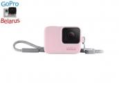 Sleeve + Lanyard GoPro | Розовый силиконовый чехол с ремешком для экшн-камеры GoPro