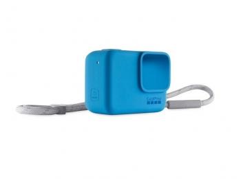 Sleeve + Lanyard GoPro | Голубой силиконовый чехол с ремешком для экшн-камеры GoPro