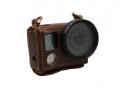Кожаный чехол на корпус для экшн-камер GoPro Hero3/Hero4   Poloz