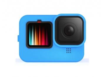 Силиконовый чехол для экшн-камеры GoPro Hero 9 Black (синий)   Poloz