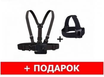 Комплект для съемки от первого лица: крепление на голову и грудь для экшн-камер GoPro   Poloz