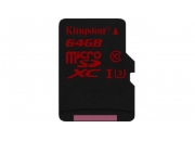 Kingston microSDXC 64GB (SDCA3/64GBSP) | Карта памяти 64GB для записи 4K