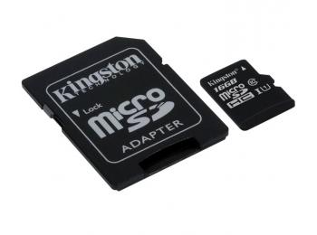 Kingston Canvas Select SDCS/16GB microSDHC 16GB   Универсальная карта памяти 16GB