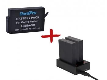 Зарядное и аккумулятор для экшн-камер GoPro Fusion   DuraPro