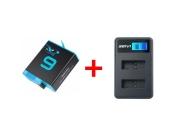 Зарядное и аккумулятор для экшн-камер GoPro Hero 9/10 Black | Brave Heart
