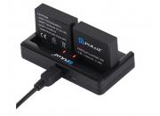 Зарядное устройство на два аккумулятора для экшн-камер GoPro Hero3/Hero4 | Poloz