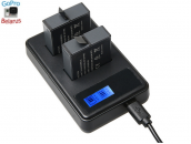Зарядное устройство на два аккумулятора для экшн-камер GoPro Hero5/6/7/8 Black | Brave Heart