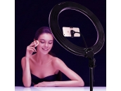 Цветная кольцевая лампа RGB 45 см + чехол + штатив 2 метра   Ring Light