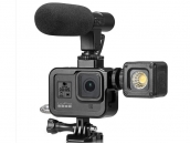 Крепление-рамка под свет и микрофон для экшн-камер GoPro Hero 8 Black  Shoot