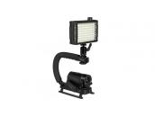 Ручка с площадкой под свет и микрофон для экшн-камер GoPro   Poloz