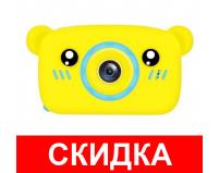 Детский цифровой фотоаппарат Мишка GSMIN (Желтый)